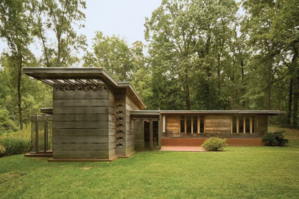 Frank lloyd wright 39 s usonian house mid century modern for Frank lloyd wright usonian home plans